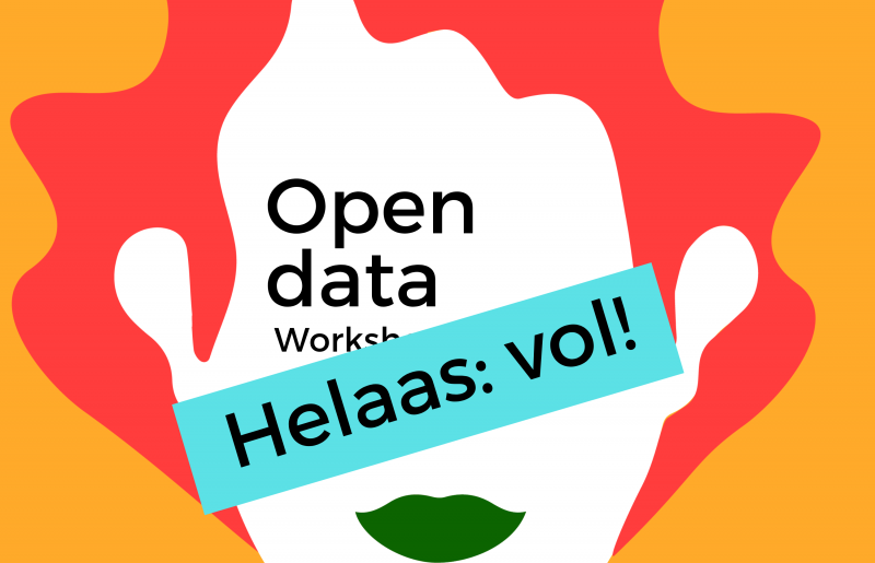 Workshop 'Open Data' is helaas vol.